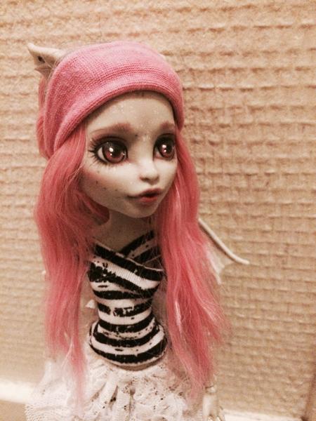 Pink hair rocks